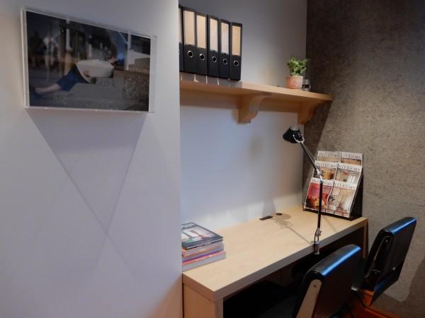 コンパクトなタイプのオフィススペースも。