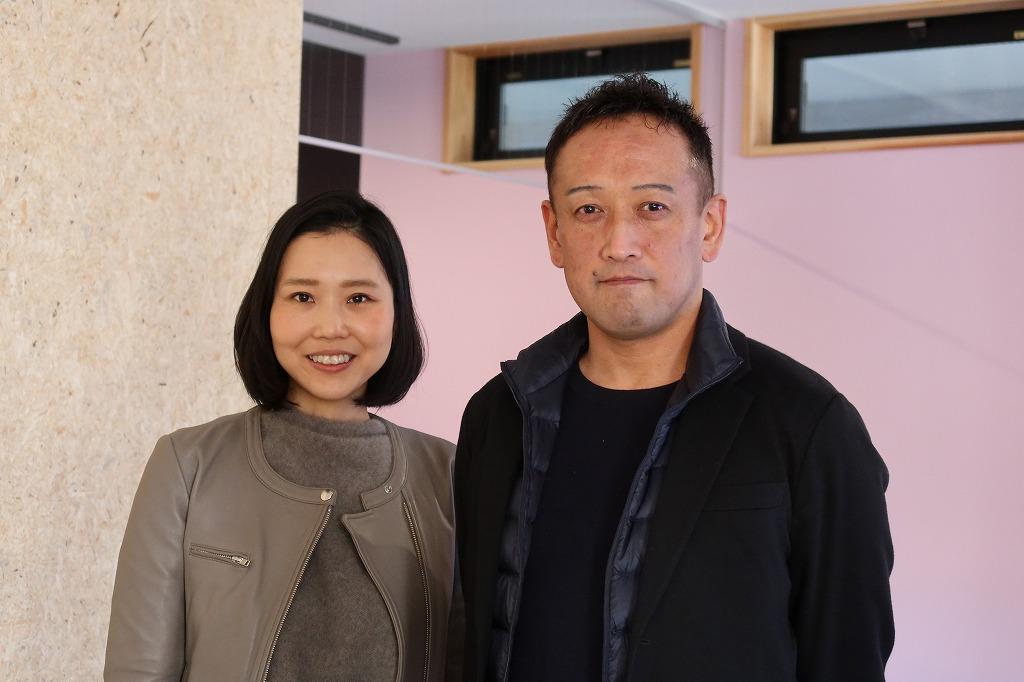 内覧会で。右があおいけあの加藤氏。左は不動産会社を経営、ノビシロの代表取締役でもある鮎川沙代氏