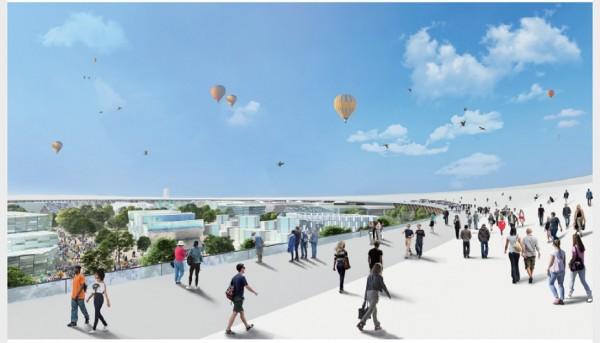 万博会場のイメージ図。万博の基本計画から