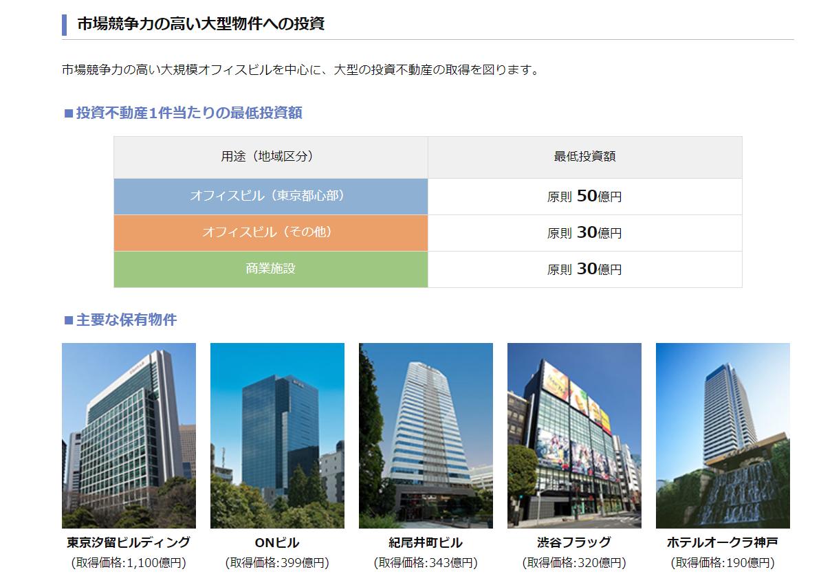 森トラスト総合リート投資法人のホームページより。