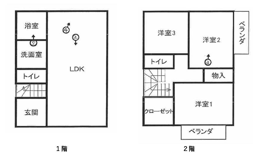 間取り 2LDKであり、各部屋が広い