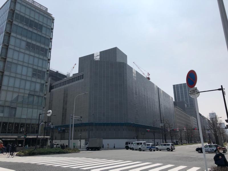 現在、日土地淀屋橋ビルと京阪御堂筋ビルは解体工事中