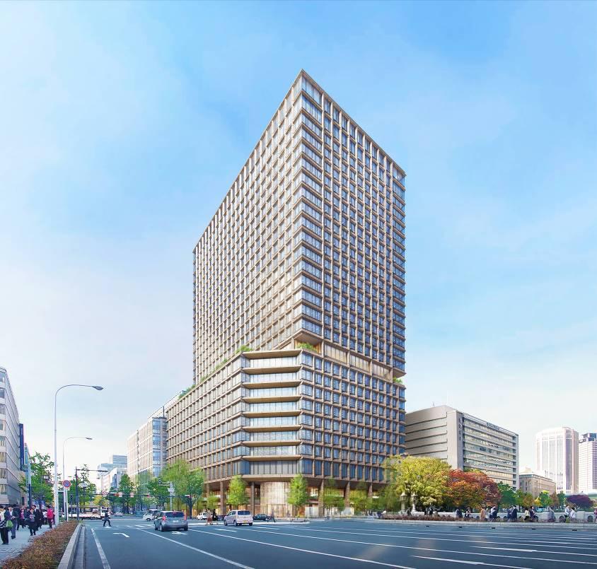 「淀屋橋駅西地区」ビルの完成予想パース(出典:大和ハウス工業株式会社)